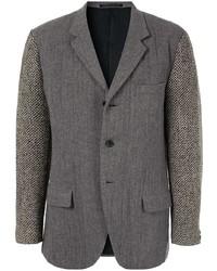 Мужской темно-серый вязаный пиджак от Yohji Yamamoto Pre-Owned
