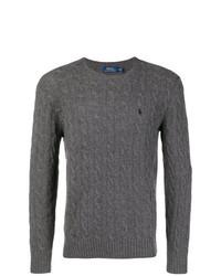 Мужской темно-серый вязаный свитер от Polo Ralph Lauren