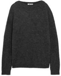 Женский темно-серый вязаный свободный свитер от Acne Studios