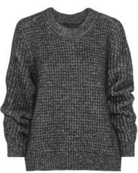 Женский темно-серый вязаный свободный свитер от Belstaff