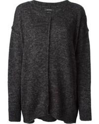 Женский темно-серый вязаный свободный свитер от Isabel Marant