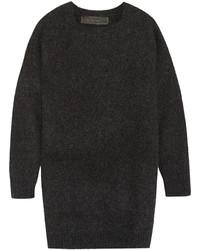 Женский темно-серый вязаный свободный свитер от The Elder Statesman