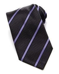 Темно-серый галстук в вертикальную полоску