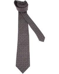 Темно-серый галстук в горошек