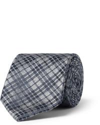 Темно-серый галстук в клетку