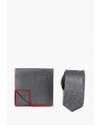Мужской темно-серый галстук в шотландскую клетку от Quesste