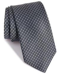 Темно-серый галстук с геометрическим рисунком