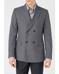 Мужской темно-серый двубортный пиджак от btc