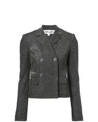 Женский темно-серый двубортный пиджак от Dvf Diane Von Furstenberg