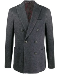 Мужской темно-серый двубортный пиджак от Etro
