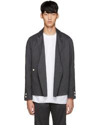 Мужской темно-серый двубортный пиджак от Sunnei