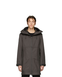 Мужской темно-серый дождевик от Bottega Veneta