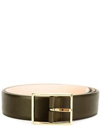 Мужской темно-серый кожаный ремень от Versace