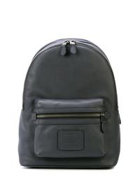 Темно-серый кожаный рюкзак