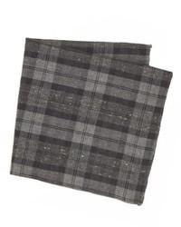 Темно-серый нагрудный платок в шотландскую клетку