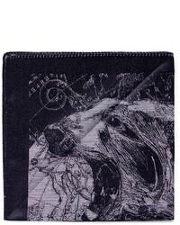 Темно-серый нагрудный платок с принтом