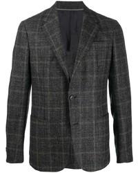 Мужской темно-серый пиджак в клетку от Z Zegna
