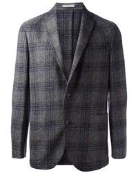 Темно-серый пиджак в шотландскую клетку