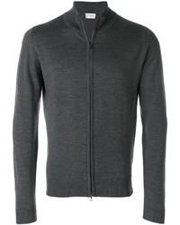Темно-серый свитер на молнии