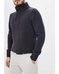 Темно-серый свитер с воротником на пуговицах от Kensington Eastside