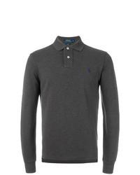 Темно-серый свитер с воротником поло