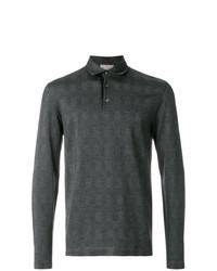 Мужской темно-серый свитер с воротником поло от Canali