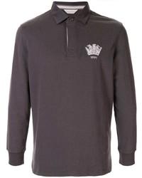 Мужской темно-серый свитер с воротником поло от Gieves & Hawkes