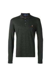 Мужской темно-серый свитер с воротником поло от Polo Ralph Lauren