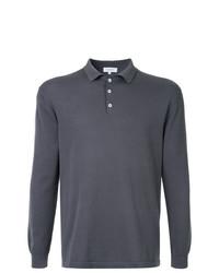 Мужской темно-серый свитер с воротником поло от Venroy