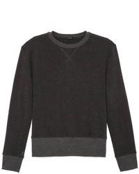 Темно-серый свитер с круглым вырезом