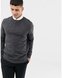 Мужской темно-серый свитер с круглым вырезом от ASOS DESIGN