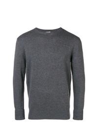 Мужской темно-серый свитер с круглым вырезом от Aspesi