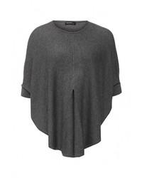 Женский темно-серый свитер с круглым вырезом от Baon