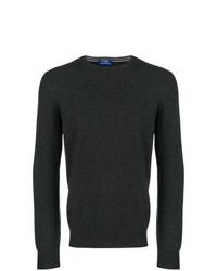 Мужской темно-серый свитер с круглым вырезом от Barba