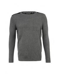Мужской темно-серый свитер с круглым вырезом от Best Mountain