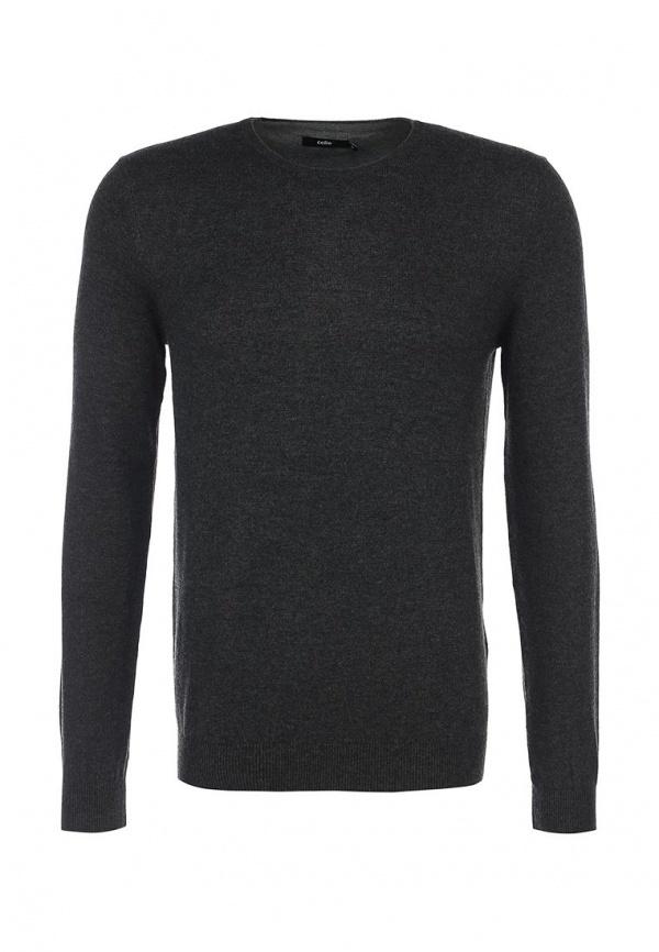 Мужской темно-серый свитер с круглым вырезом от Celio