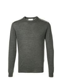 Мужской темно-серый свитер с круглым вырезом от Cerruti 1881