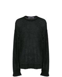 Мужской темно-серый свитер с круглым вырезом от Chalayan