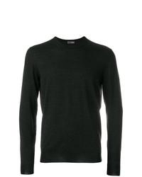 Мужской темно-серый свитер с круглым вырезом от Drumohr