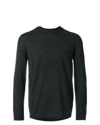 Мужской темно-серый свитер с круглым вырезом от Emporio Armani