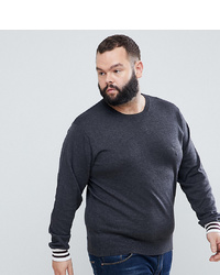 Мужской темно-серый свитер с круглым вырезом от French Connection