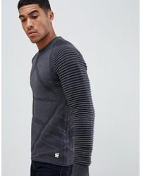 Мужской темно-серый свитер с круглым вырезом от G Star