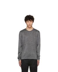 Мужской темно-серый свитер с круглым вырезом от Hugo