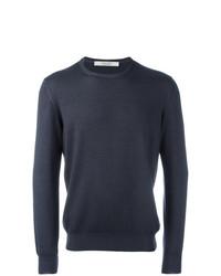 Мужской темно-серый свитер с круглым вырезом от La Fileria For D'aniello