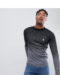 Мужской темно-серый свитер с круглым вырезом от Le Breve