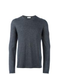 Мужской темно-серый свитер с круглым вырезом от Le Kasha