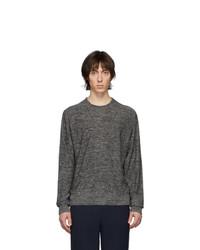 Мужской темно-серый свитер с круглым вырезом от Lemaire