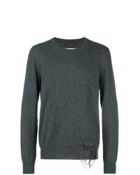 Мужской темно-серый свитер с круглым вырезом от Maison Margiela