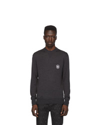 Мужской темно-серый свитер с круглым вырезом от Neil Barrett