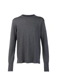 Мужской темно-серый свитер с круглым вырезом от Officine Generale